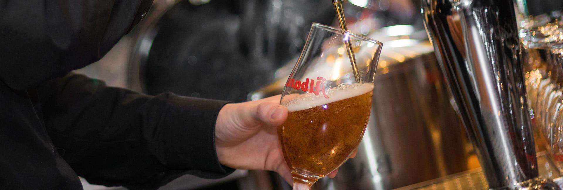 øl på fad hos City Bowling